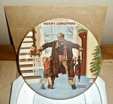 Norman Rockwell 1977 Christmas Plate *The Big Moment* (Jan 25,1936 S.E.P. Cover)