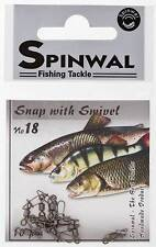 SPINWAL FISHING SNAP WITH SWIVEL SIZE 18. PACK 10 PCS.