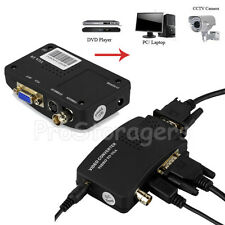 CCTV Camera AV Composite S-Video BNC input to VGA output PC Converter Adapter