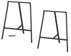 "Set of 2 -  IKEA LERBERG Trestle Gray Table Legs 27 1/2 "" x 23 5/8 "" 801.307.76"