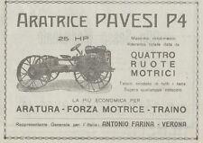 Z1950 Aratrice PAVESI P4 25 HP - Pubblicità d'epoca - 1920 Old advertising