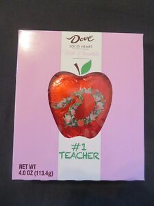 Dove Silky Smooth Solid Milk Chocolate Apples #1 Teacher 4 Oz *O