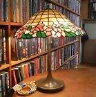 Antique leaded glass lamp by Unique   Handel  Bradley   Hubbard Wilkenson styles