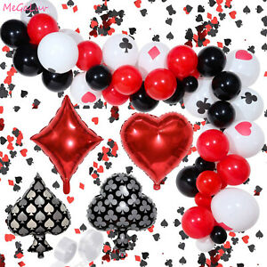 Las Vegas Casino Theme Tableware Ballon Set Party Supplies Decor Plate Cup HOT M