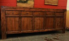 Antique Chinese Cabinet Oriental Sideboard Asian Lacquer Buffet