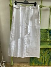 Ralph Lauren Long White Linen Skirt Size 32 Inch Waist 12 To 14 New