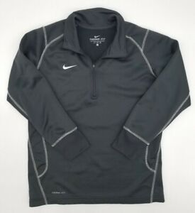 Nike Therma-Fit 1/4 Zip Pullover Sweatshirt Youth XL Dark Gray Fleece Lined