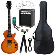 Pack Guitare électrique Single-Cut Humbucker Orange Burst Amplificateur Sac