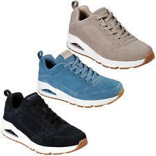 Skechers Uno Trainers Mens Suede Leather Lace Up Max Air Sneakers Shoes 52456
