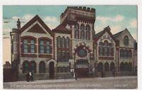 3rd Battalion Lancashire Fusiliers Drill Hall Salford 1906 Postcard, B593