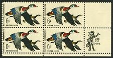US #1362 6c Waterfowl Conservation, Zip Block  MNH 1968 year