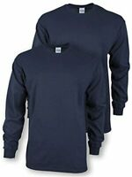 Gildan Men's Ultra Cotton Adult Long Sleeve T-Shirt, 2-Pack,, Navy, Size 3.0 xl7