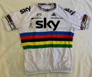 Mark Cavendish signed 2012 World Champion SKY cycling jersey Tour de France Prf