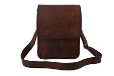 "12x10"" Real Leather Messenger Bag Fits A4, Crossbody College School Shoulder Bag"