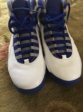 Nike Air Jordan X 10 Retro TXT White/Old Royal-Stealth Royal 487214-107 SZ 10