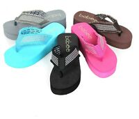 NEW Women's Fashion Beach Wedge Platform Thong Flip Flops Slip On Sandals Shoes