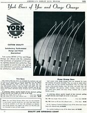 1948 Print Ad of York Archery Bows of Yew and Osage Orange