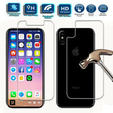 HD 9H Front and Back Tempered Glass Screen Protector For iPhone X iPhone XS 5.8""