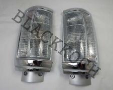 Front Corner Turn Signal Light White Lens for 87-93 Dodge D50 Pickup