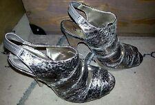 F&F Gold Animal Print Slingback Heeled Shoes size 7/41 BNWT