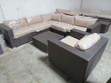 MODERN OUTDOOR WICKER SECTIONAL SOFA PATIO FURNITURE SET