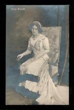1909 RPPC Portrait German Austrian Opera Singer Anny Brands by Otto Skowranek