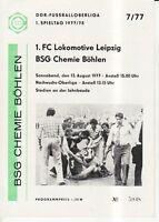 OL 77/78  BSG Chemie Böhlen - 1. FC Lok Leipzig