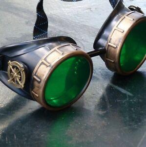 Steampunk Vintage pilot goggles motorcycle biker aviator glasses  burning man