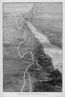 SOUDAN 1884 MAP OF THE SEAT OF WAR IN SOUDAN MECCA BERBER KHARTOOM RED SEA