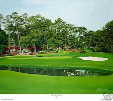 "Augusta National Golf Club- Hole 15 ""Firethorn"" Giclee on Canvas , Lim.Ed. 16x20"