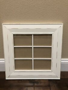 POTTERY BARN Distressed Wood Picture Frame Multi Photos Frame 18X18 White