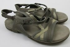 Ecco Womens Size 39 US 8 8.5 Grey Gray Sport Sandals Cross Straps Clasp