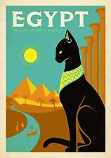 MAGNET  TRAVEL Photo Magnet  EGYPT Pyramids Cat Nile