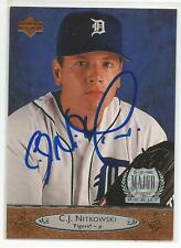 CJ NITKOWSKI Autographed Signed 1996 Upper Deck card Detroit Tigers COA