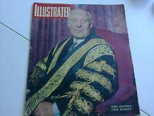 Vintage ILLUSTRATED Magazine -APR 1946- Dalton's Budget/Budapest/Sargent/Olivier