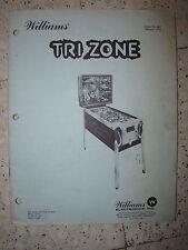 FLIPPER WILLIAMS - 1979 - MANUEL INSTRUCTION - TRIZONE - OPERATIONS MANUAL REVUE