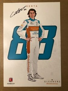 2020 COLTON HERTA signed INDIANAPOLIS 500 HERO PHOTO CARD POSTCARD INDY CAR