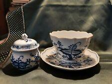 Antike Meissener Tasse Zwiebelmuster Cappuccino übergroß 12 cm Durchmesser
