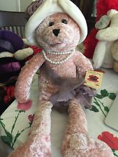 "CHANTILLY LANE MUSICAL  BEAR  - 22"" ROSE - SINGING "" LOVE "" -"