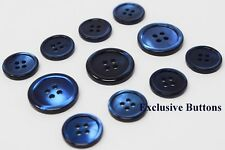 Deep Blue Trocas Genuine Shell Buttons Set For Suit, Blazer, or Sportcoat