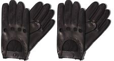 LEATHER DRIVING GLOVES SOFT MEN'S MOTORBIKE CHAUFFEUR BUS FASHION VINTAGE RETRO