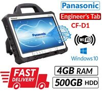 "PANASONIC TOUGHBOOK CF-D1 13.3"" INTEL 847 4GB 500GB WIN 10 ENGINEERS' XENTRY TAB"