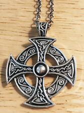 Outlander Scottish Irish Celtic Viking Norse Knot Eternity Cross Necklace Chain