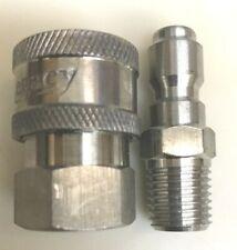 Legacy 8707 1030 Pressure Washer Hose Quick Coupler Socket Set 14 Fpt Ss