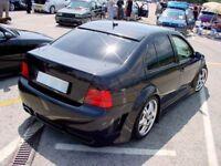 VW Bora Casquette Extension De Toit Aileron Arrière ABS Noir GLI 1998-2005