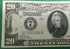 """1928 $20 """"Redeemable in GOLD"""" """"BIG 7"""" Chicago X380 FINE Crispness Currency!"""