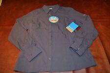 NWT MSRP $78 Womens Columbia Shirt Omni-Shade Omni Wick UPF 40 Size Medium Fish