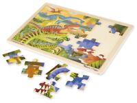 Melissa & Doug DINOSAUR JIGSAW - 24 PC Pre-School Children Wooden Toys BN