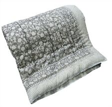 Floral Printed Indian 100%Cotton Reversible Winter Quilt Razai Twin Size Blanket