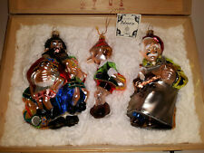 Polonaise Pinocchio Disney Ornament Set of 3 in Box Beautiful Glass Ornaments